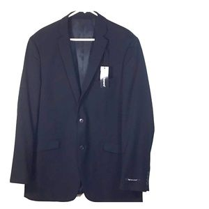 Harve Bernard Black Blazer Sport Coat Size 44L NEW